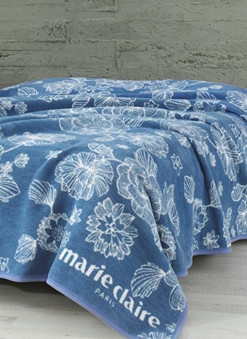Marie Claire Tek Kişilik Battaniye Mavi